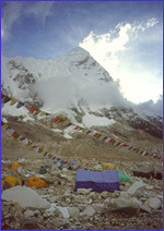 Everest Base Camp with Pumori in background